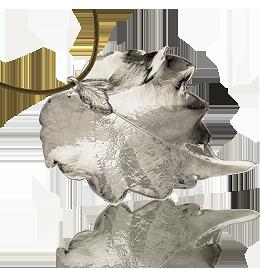 Pendente Foglia di Vite - finitura argento liscia - Almavera Bijoux ...